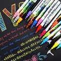 GN 0.7mm Acryl Verf Pen 12/18 Kleuren markeerstift Art Marker Pen voor Keramische Rock Glas Porselein Mok Hout stof Canvas Verf