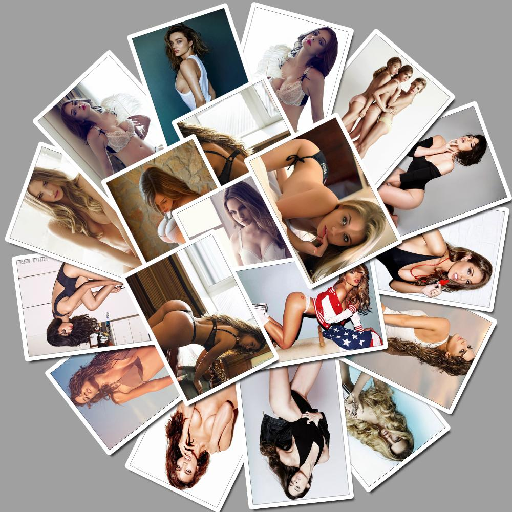 25 Pcs Sexy Hot Girl Laptop Stickers For Laptop Luggage Motorcycle Car Styling Home Decor Decal Personality Waterproof Sticker
