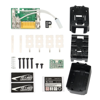 BL1890 obudowa baterii PCB ładowanie obwód ochronny płyta Shell Box BL1860 dla MAKITA 18V 6Ah-Label tanie i dobre opinie CN (pochodzenie) Przechowywanie akumulatora box