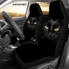 Instantarts 2pcs/set car seat covers 3d animal cat printed universal