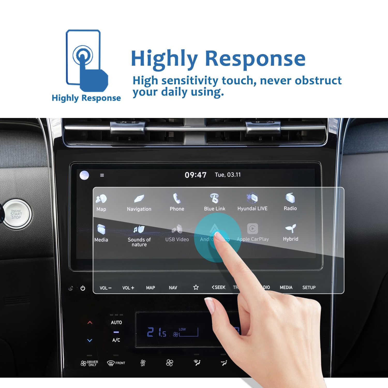 LFOTPP протектор экрана автомобиля для Tucson NX4 otali.ru 10 дюймов GPS навигация Сенсорный центр дисплей Авто аксессуары для интерьера