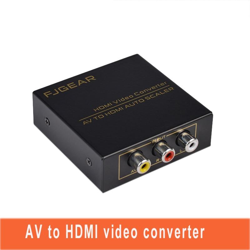 AV ZU HDMI Video Converter Adattatore Mini Composite CVBS A HDMI Converter AV2HDMI RCA2HDMI 720 P/1080p Metal Shell FJ-AH1308