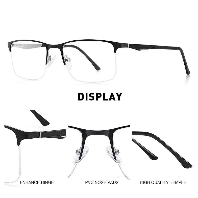 Image 2 - MERRYS DESIGN Men Titanium Alloy Glasses Frame Male Square Half Optical Ultralight Eye Myopia Prescription Eyeglasses S2059Mens Eyewear Frames   -
