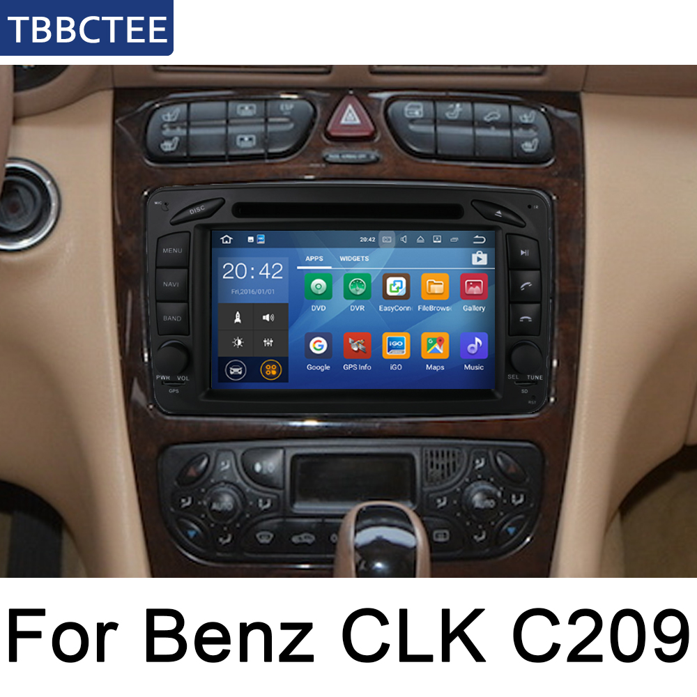 For Mercedes Benz CLK C209 W209 1998 2005 NTG Car Android Multimedia Auto DVD Player GPS Navigation System Screen Radio Stereo in Car Multimedia Player from Automobiles Motorcycles
