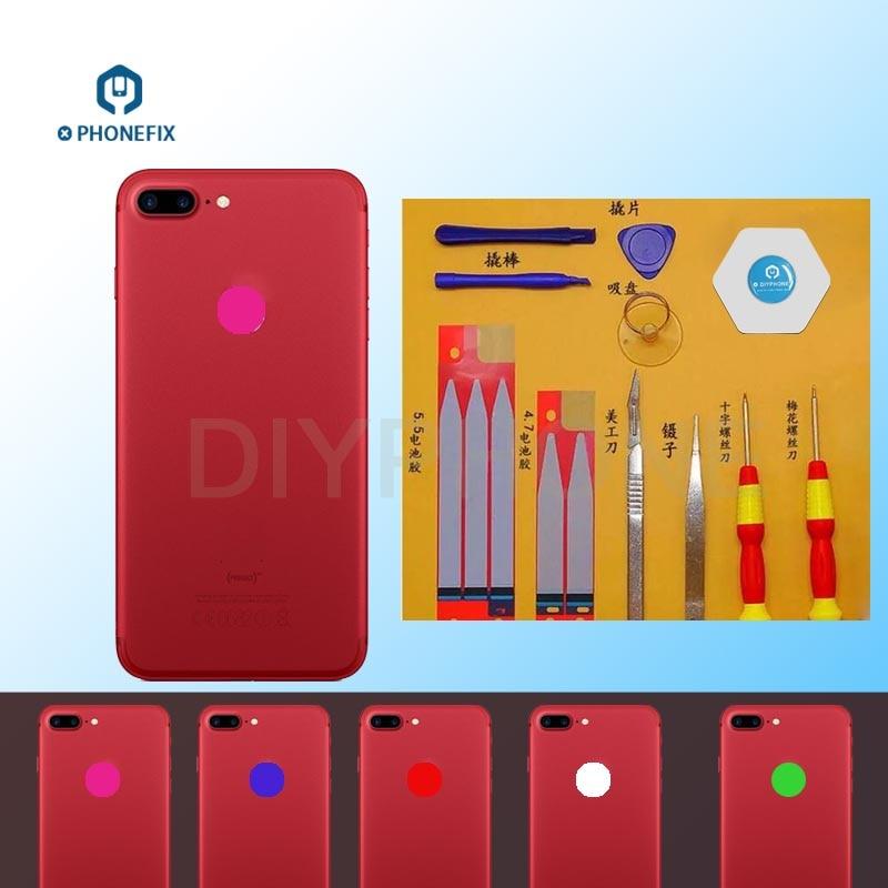 Flexible 16 Colors Rainbow Back LED Logo Light Flex Cable For IPhone 6 6S 6P 6SP 7P LED Light Glowing Logo Replace Parts