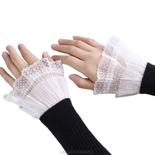 Wrist-Warmers Sleeves False-Cuffs Lace-Pleated Women Fake Korean 21 1-Pair Flared Ruched
