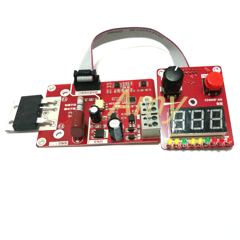 Double Pulse Encoder Spot Welding Current Time Control Panel Counting With Voltage Compensation Digital Display 100A