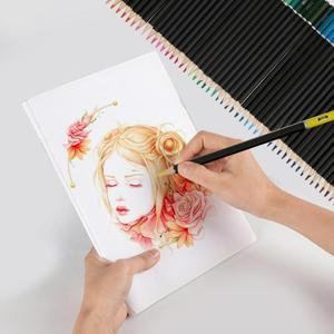 Image 3 - 72pcs 수채화 물감 아티스트 스케치 페인팅 전문 수용성 컬러 연필 학교 학생 아티스트 아트 용품