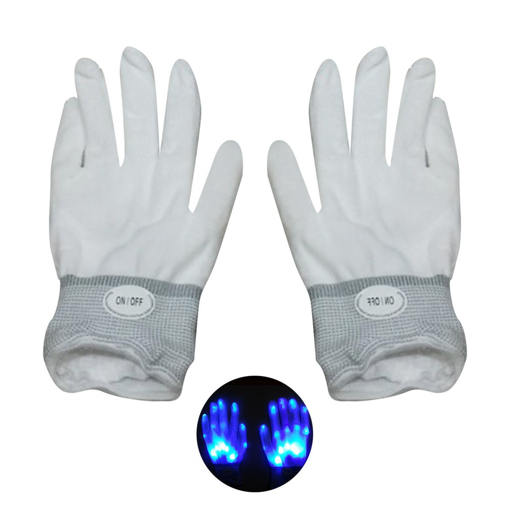 Creative Colorful LED Gloves Comfortable Party Night Club Dancing Club Luminous Men Women Flashing Gloves