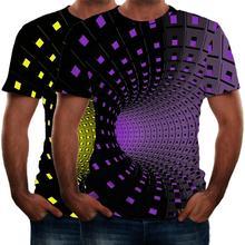 Мужская футболка с 3D принтом пейсли размера плюс, короткий рукав, круглый вырез, летние топы, уличная одежда, новинка, Повседневная рубашка, 3XL, Camisa Masculina# D