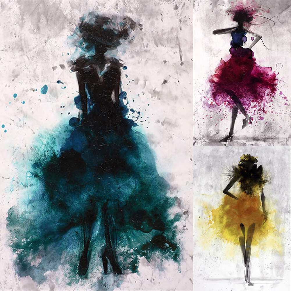 Высокое качество акварельные холщовые картины для девочек настенные художественные принты постер декор для гостиной декоративные картины на стене дома Dec|Украшение тканями|   | АлиЭкспресс
