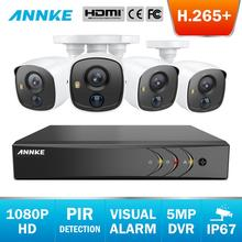 ANNKE 8CH 5MP Lite 5in1 CCTV DVR HD 4PCS TVI Security Camera PIR Detection Outdoor Bullet Camera Home Video Surveillance System