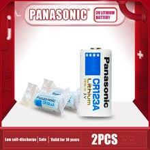 2 sztuk oryginalny Panasonic CR123A bateria litowa 3v CR17345 16340 CR 123A CR123 suche komórki podstawowej do aparatu latarka wodomierz