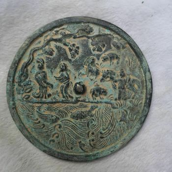 China old  Bronze Old Feng Shui  Bronze mirror Figure mirror