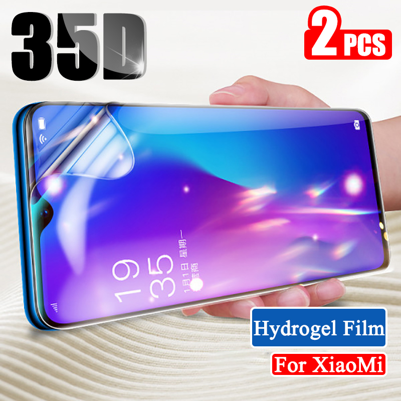 2pcs Full Cover Hydrogel Film For Xiaomi Mi Note 10 Pro Screen Protector For Xiaomi Mi 9t Pro 8 Mix 3 A2 A3 9 Lite Se Not Glass