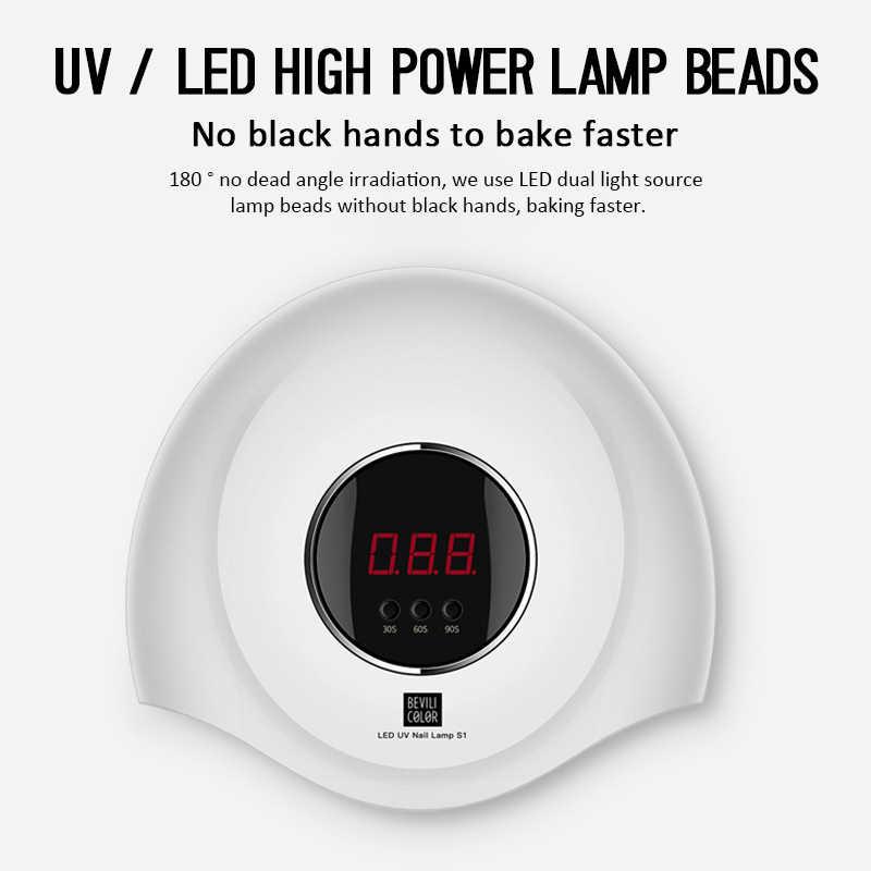 UV professionale HA CONDOTTO LA Lampada Per Unghie Asciugatrice 36W/48W/54W Lampada di Ghiaccio Per Manicure Del Gel lampada del chiodo Lampada di Asciugatura Per Smalto Per Unghie