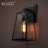 Lámparas LED de pared impermeables para exteriores, luminaria de vidrio IP44, para porche, LOFT, Industrial, hotel y jardín