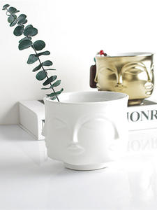 Modern Ceramic Vase Flowers Planters Home-Decoration-Accessories Face Pot Man