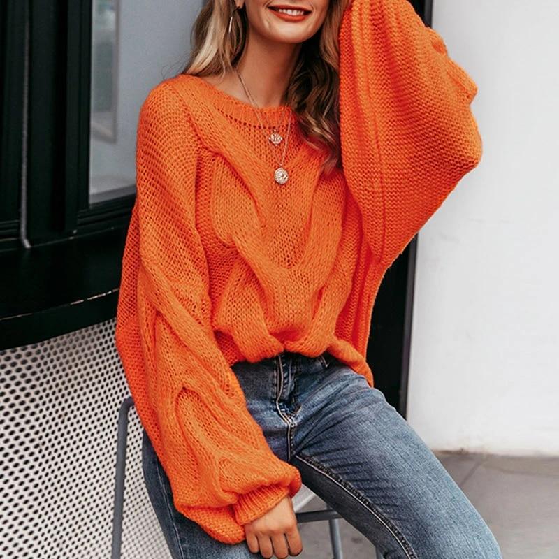 Orange Mohair women sweater  order