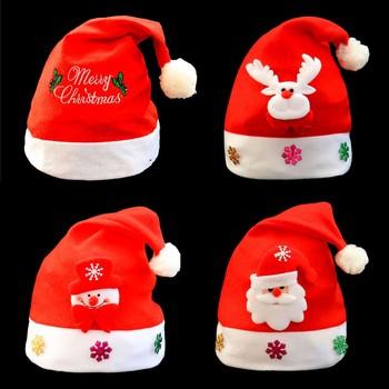 Ozdoby świąteczne ciepłe prezenty nowe czapki bożonarodzeniowe dla dorosłych dzieci czapki bożonarodzeniowe czapki św Mikołaja czapka imprezowa Xmas rekwizyty na przyjęcia tanie i dobre opinie COTTON Christmas gloves
