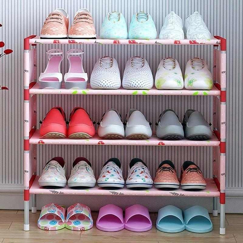 ชั้นวางรองเท้าสีชมพูตู้ผู้ถือชั้นประกอบชั้นวางรองเท้าเฟอร์นิเจอร์ห้องรับแขกชั้นวางรองเท้า