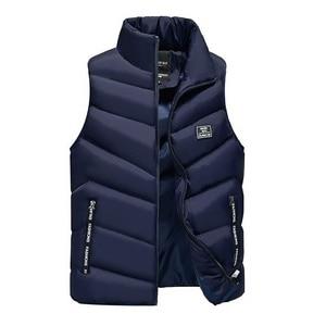 Image 3 - 2020 yelek jile Homme yelek Mens kış kolsuz ceket erkekler aşağı yelek erkek sıcak kalın kapşonlu palto erkek pamuk dolgulu