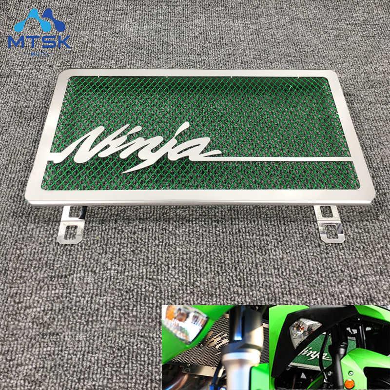 Sepeda Motor Radiator Grill Grille Guard Cover untuk Kawasaki Ninja 250 300 ZX300R ZX250R Ninja 250R 2010 2013 2014 2015