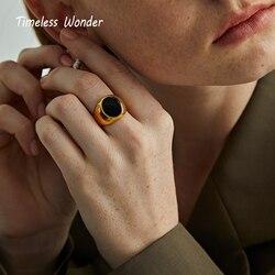 Женское кольцо из нержавеющей стали Wonder Titanium Geo Oval, дизайнерское кольцо в готическом стиле бохо, редкие 8512