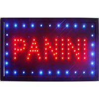 CHENXI led panini food pizza open store business neon lighted sign direct selling custom graphics 10X19 inch indoor Ultra Bright