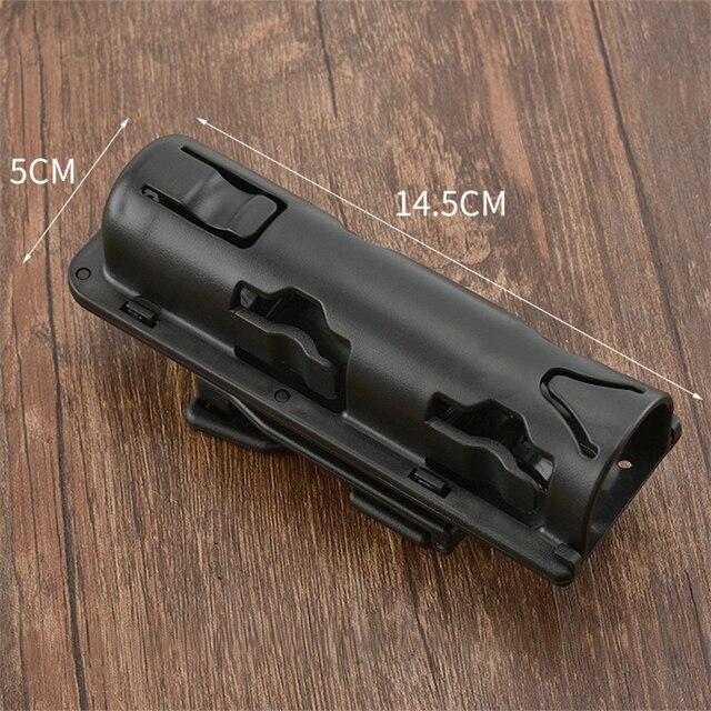 Universal 360 Degree Rotation Baton Case Holster Black Holder Self Defense Safety Outdoor Survival Kit EDC Tool 3