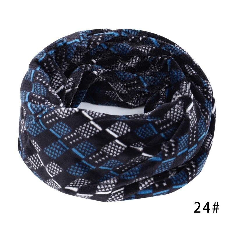 Новинка, осенне-зимний женский шарф с принтом для женщин, модный бархатный тканевый шарф, мягкий удобный женский винтажный шарф - Цвет: 24