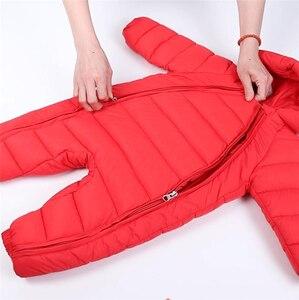 Image 5 - 3 uds. Ropa de Otoño Invierno para recién nacidos, chaqueta de plumas para bebés, niños y niñas, abrigo cálido para escalar, peleles gruesos para niños, prendas de vestir exteriores
