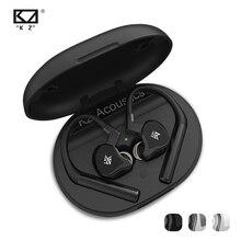 Kz e10 tws 이어폰 1dd + 4ba 하이브리드 무선 터치 컨트롤 블루투스 5.0 이어 버드 헤드셋 스포츠 소음 제거 저음 헤드폰