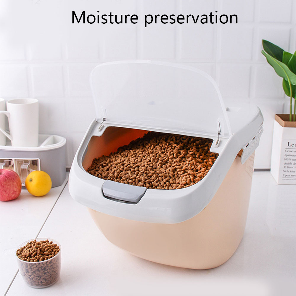 Pet Dog Feeder Storage Food Large Capacity Kitchen Rice Storage Box Sealed Moisture-Proof Pet Dog Feeder Storage Food Container