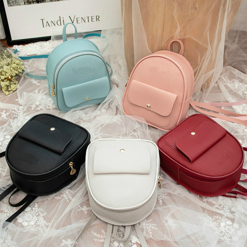 Mini Backpack Phone-Pouch Shoulder-Bag Multi-Function Teenage-Girls Female Korean-Style