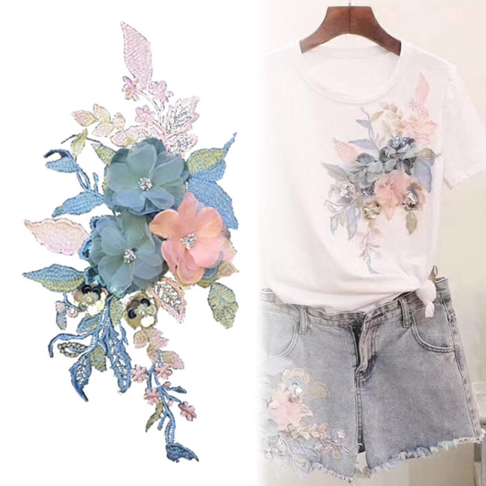 Flower Embroidery Patch Applique Clothing T-shirt Hat Sewing Badge Cute Patches On Clothes DIY Accessory Fashion Special Gift