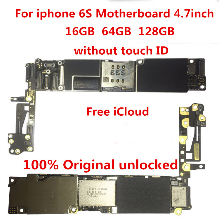 The Latest  For iPhone 6S 64GB Motherboard100% Original unlocked for iphone 6S 64GB Logic boards without Touch