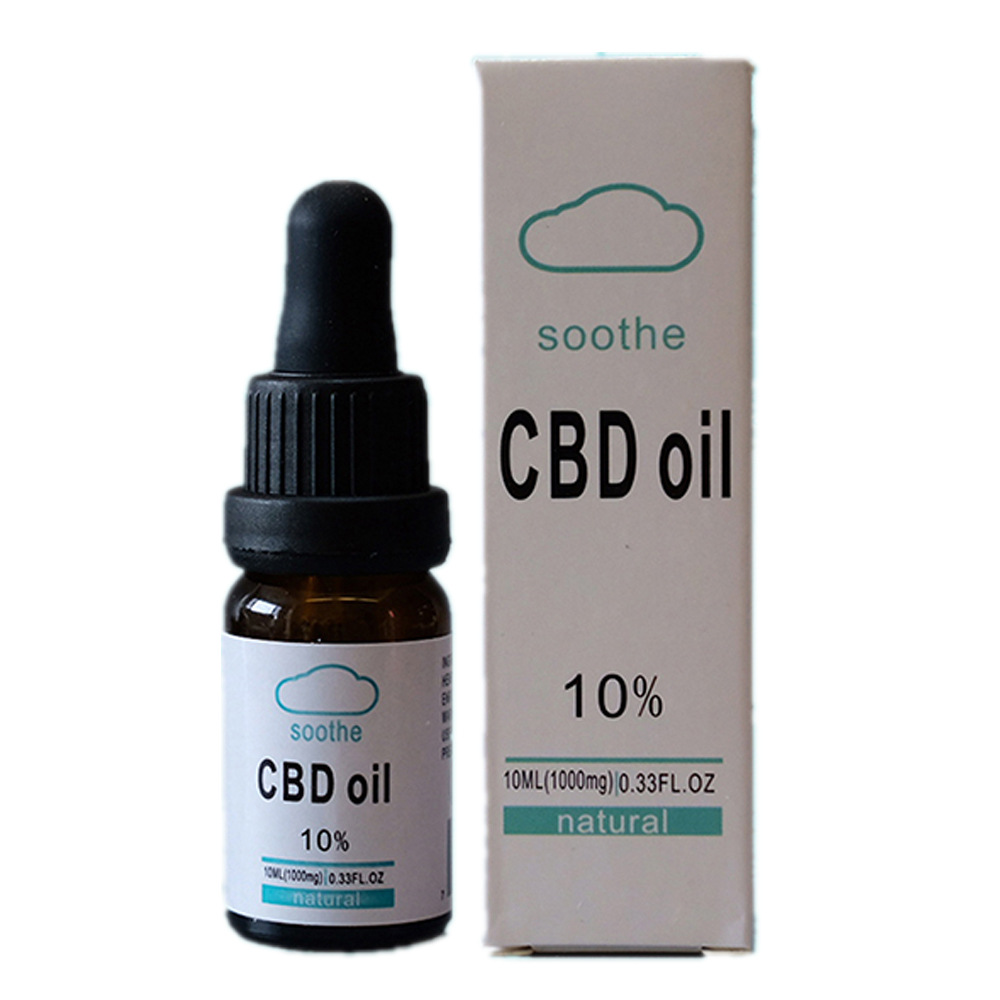 CBD Oil 100% Natural Sleep Aid Anti Stress Drop For Pain Anxiety Stress Relief Hemp essential oil Without THC 10ML