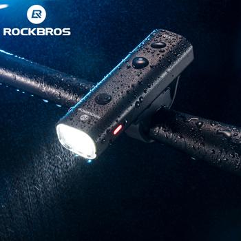 ROCKBROS-Lampka rowerowa LED przednia ładowana przez USB 2000 mAh bardzo lekka aluminiowa wodoodporna do MTB tanie i dobre opinie CN (pochodzenie) YQ-QD400LM Kierownica Baterii Aluminum Alloy About 103*23*30mm About 122 g 200 400 Lumen Highlight Normal Brightness flash