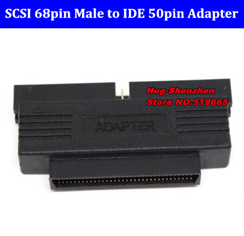 Free Shipping HPDB 68pin Male To IDE 50pin Male Adapter SCSI 68-pin To IDE 50-pin Converter