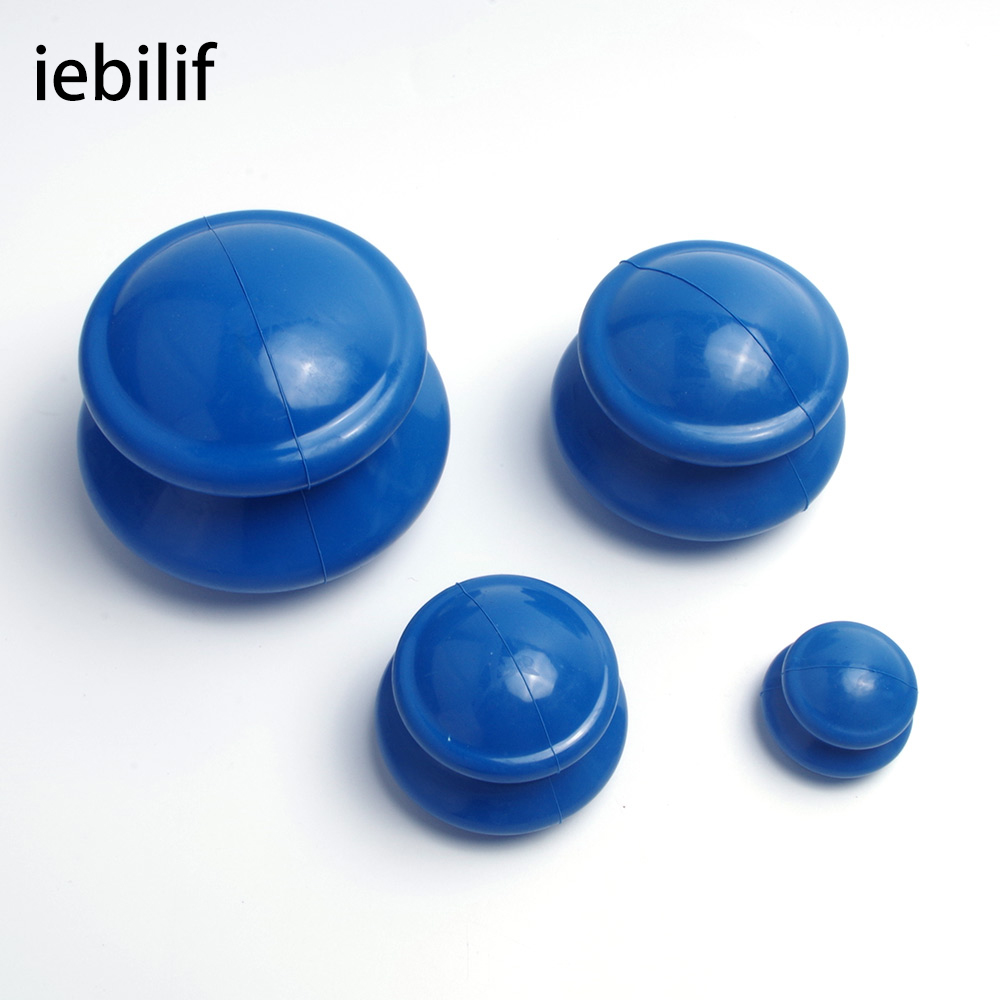 Iebilif 4Pcs Moisture Absorber Anti Cellulite Vacuum Cupping Cup Silicone Family Facial Body Massage Therapy Cupping Cup Set