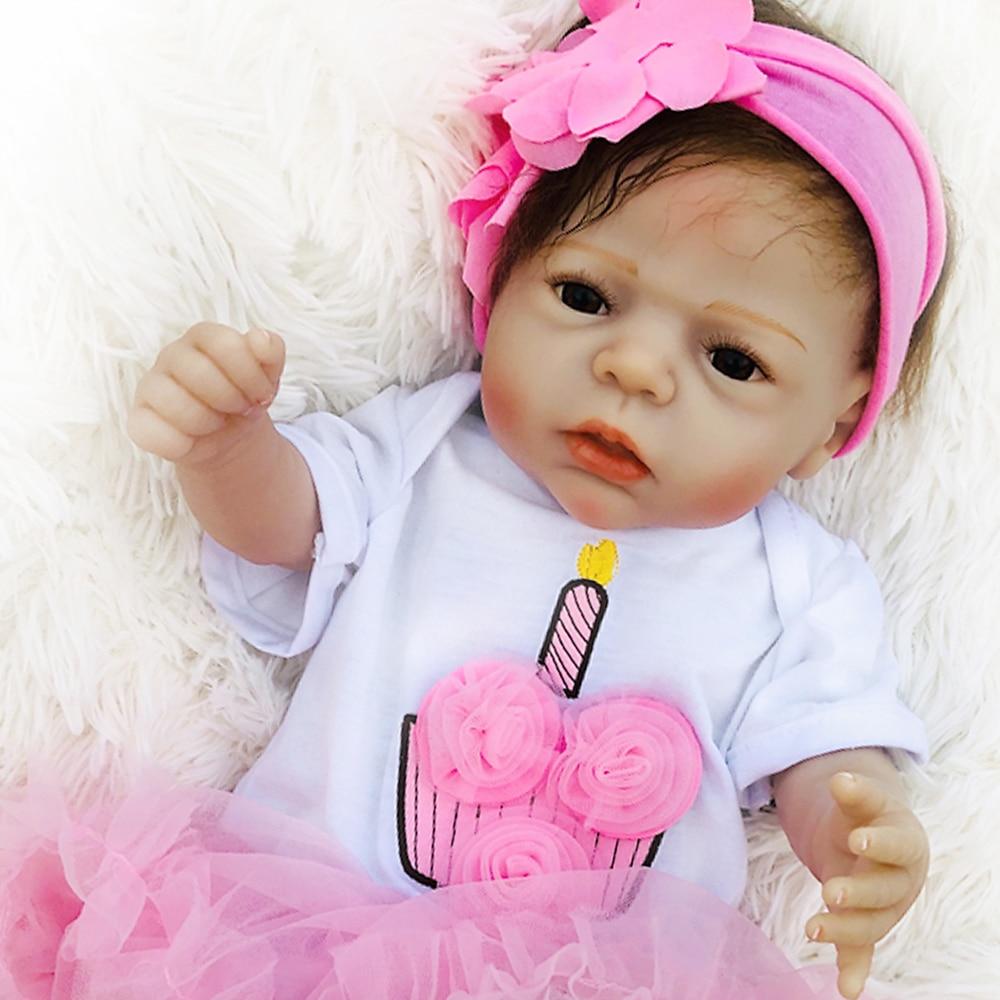 Bebe reborn whole body silicone baby reborn girl dolls toys for children...