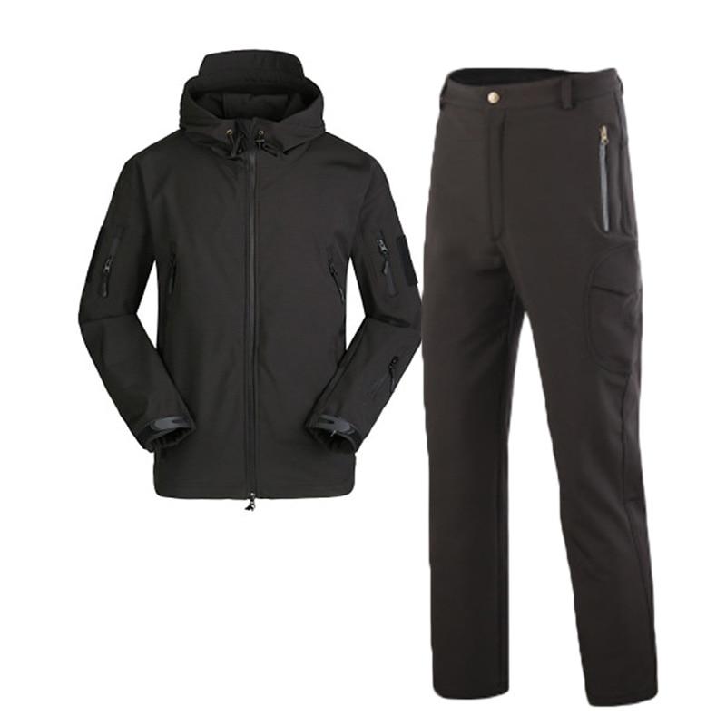 Men Uniforms Jackets Pants Waterproof Winter Warm Suits Outdoor Sports Military Tactical Sets Fleece Men Hunting Uniforms Sets
