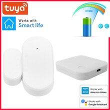 Tuya ZigBee Smart Window Door Gate Sensor Door Open / Closed Detector Smart Life / Tuya App Smart Home Security Alarm System