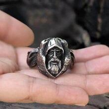 Anneau SECRET de couleur argent pour hommes, anneau de la mythologie nordique, Odin Raven, loup Viking, Punk, amulette scandinave, bijoux