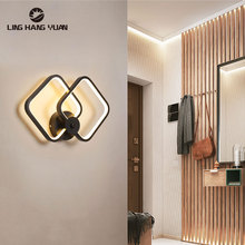 Modern Led Wall Light Black&White Decoration Sconce Wall Lamp for Living room Bedroom Bedside room Mirror Light Wall Lamp Lustre getop modern crystal led wall lamp fixture bedside sitting room stairs corridor lustre bracket lamp contracted free shipping