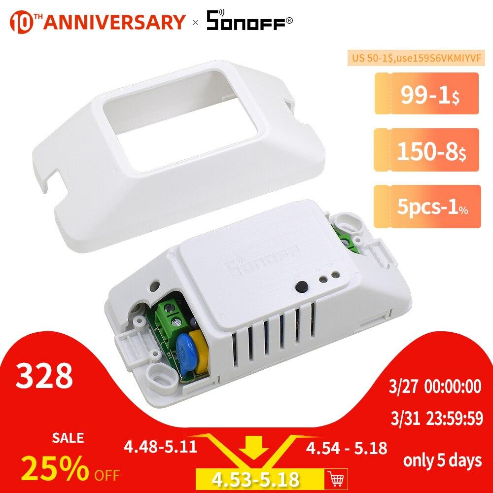 SONOFF Basic R3/R2 DIY WIFI Wireless Switch Light Timer Smart Home Google Alexa Compatible LAN EWelink APP/Voice/Remote Control