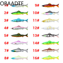 Ocean Fishing Luya multi-section bait 13cm 21g simulation three-section fake plastic hard fishing