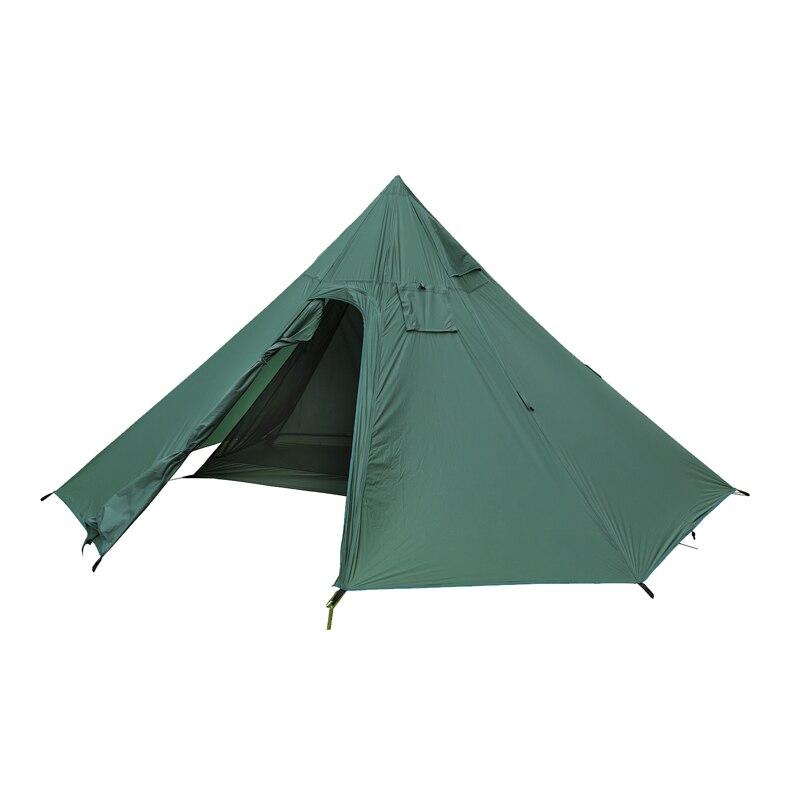 OneTigris Outdoor Kamin Zelt 7-Seitige 2-Kammer Einzigen Shelter & Innere Mesh Zelt für Abenteurer Wandern Camping 3 saison Zelt