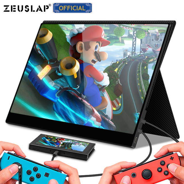 13.3 15.6 USB C HDMI 1080P HDR PD Charging Touching Portable Gaming Monitor for raspberry pi 4